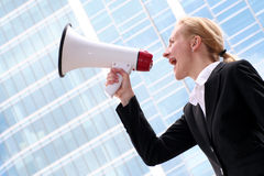 Businesswoman Shouting Royalty Free Stock Photo