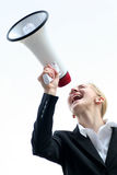 Businesswoman Shouting Stock Image