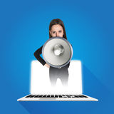 Businesswoman shouting Stock Images