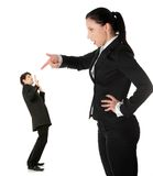 Businesswoman shouting on man Royalty Free Stock Photo