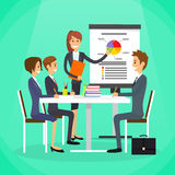 Businesswoman Show Graph Business People Group Royalty Free Stock Photo