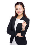 Businesswoman show with name card Royalty Free Stock Image