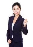 Businesswoman show with name card Stock Photos