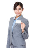 Businesswoman show with name card Royalty Free Stock Photo