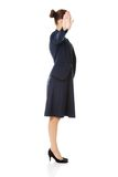 Businesswoman show NO gesture. Royalty Free Stock Images