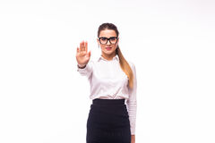Businesswoman show NO gesture Royalty Free Stock Images