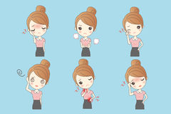 Businesswoman show variety of expressions Stock Photo