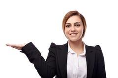 Businesswoman showing copyspace Stock Photos
