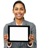 Businesswoman Showing Digital Tablet Royalty Free Stock Photos
