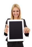 Businesswoman Showing Digital Tablet Royalty Free Stock Image