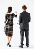 Businesswoman showing her business partner something Royalty Free Stock Photos
