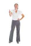 Businesswoman showing her thumb up Royalty Free Stock Image