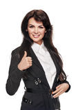 Businesswoman showing like Royalty Free Stock Images