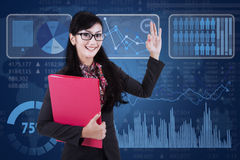 Businesswoman showing OK gesture Stock Photography