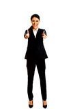Businesswoman showing ok sign Royalty Free Stock Photos