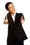 Businesswoman showing ok sign Royalty Free Stock Photography