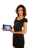 Businesswoman Showing Presentation on Electronic Pad Royalty Free Stock Photos