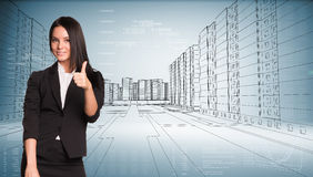 Businesswoman showing sign okay Royalty Free Stock Photos
