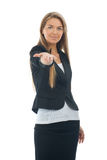 Businesswoman showing something on the palm Stock Image