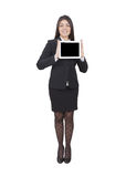 Businesswoman showing tablet Stock Photography