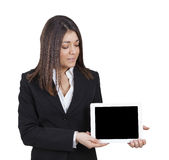 Businesswoman showing tablet Royalty Free Stock Image