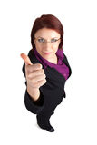 Businesswoman showing thumb's up sign Royalty Free Stock Photos