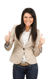 Businesswoman showing thumbs up Royalty Free Stock Photo