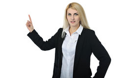 Businesswoman shows  Royalty Free Stock Photo