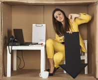 Businesswoman shows thumb down Royalty Free Stock Photo