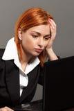 businesswoman się martwić obrazy royalty free