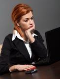 businesswoman się martwić zdjęcie stock