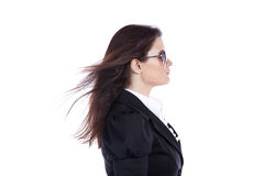 Businesswoman side view Stock Images