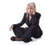 Businesswoman sigh Stock Photos
