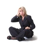 Businesswoman sigh Royalty Free Stock Photos