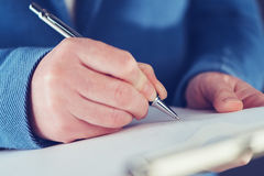 Businesswoman signing business contract agreement Royalty Free Stock Photography