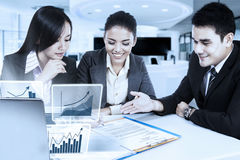 Businesswoman signing business contract Stock Photos