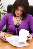Businesswoman signing documents Royalty Free Stock Image