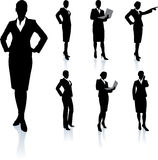 Businesswoman Silhouette Collection Stock Photos