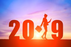 Businesswoman with 2019 stock photo