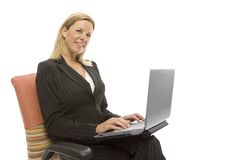 Businesswoman Sits Relaxing Royalty Free Stock Image