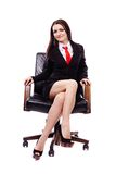 Businesswoman sitting in an armchair Royalty Free Stock Images