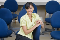Businesswoman Sitting On Chair Royalty Free Stock Photos