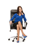 Businesswoman sitting in chair Royalty Free Stock Photo