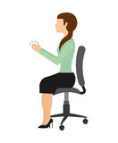 Businesswoman sitting in a chair isolated icon design Stock Images