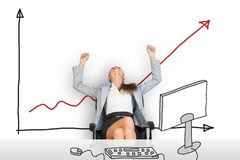 Businesswoman sitting in chair Stock Image