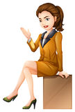 A businesswoman sitting down Stock Photos
