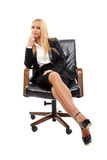Businesswoman sitting in her chair Royalty Free Stock Photography