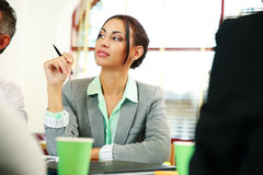 Businesswoman sitting at the meeting Stock Photography