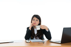 Businesswoman Sitting At Office Desk Stock Photos