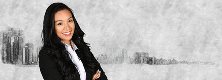 Businesswoman With Skyline Royalty Free Stock Image